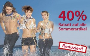 40% Sommeraktion bei Jeanswelt