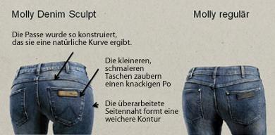 Wrangler Molly Push-up Jeans für einen schönen Po