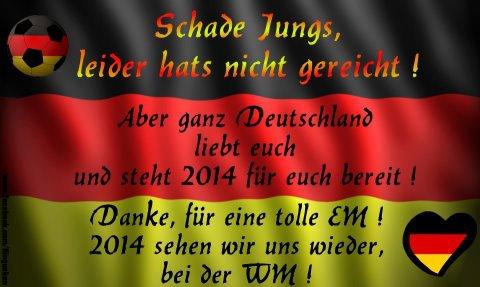Aus für Deutschland -die Fußball EM 2012