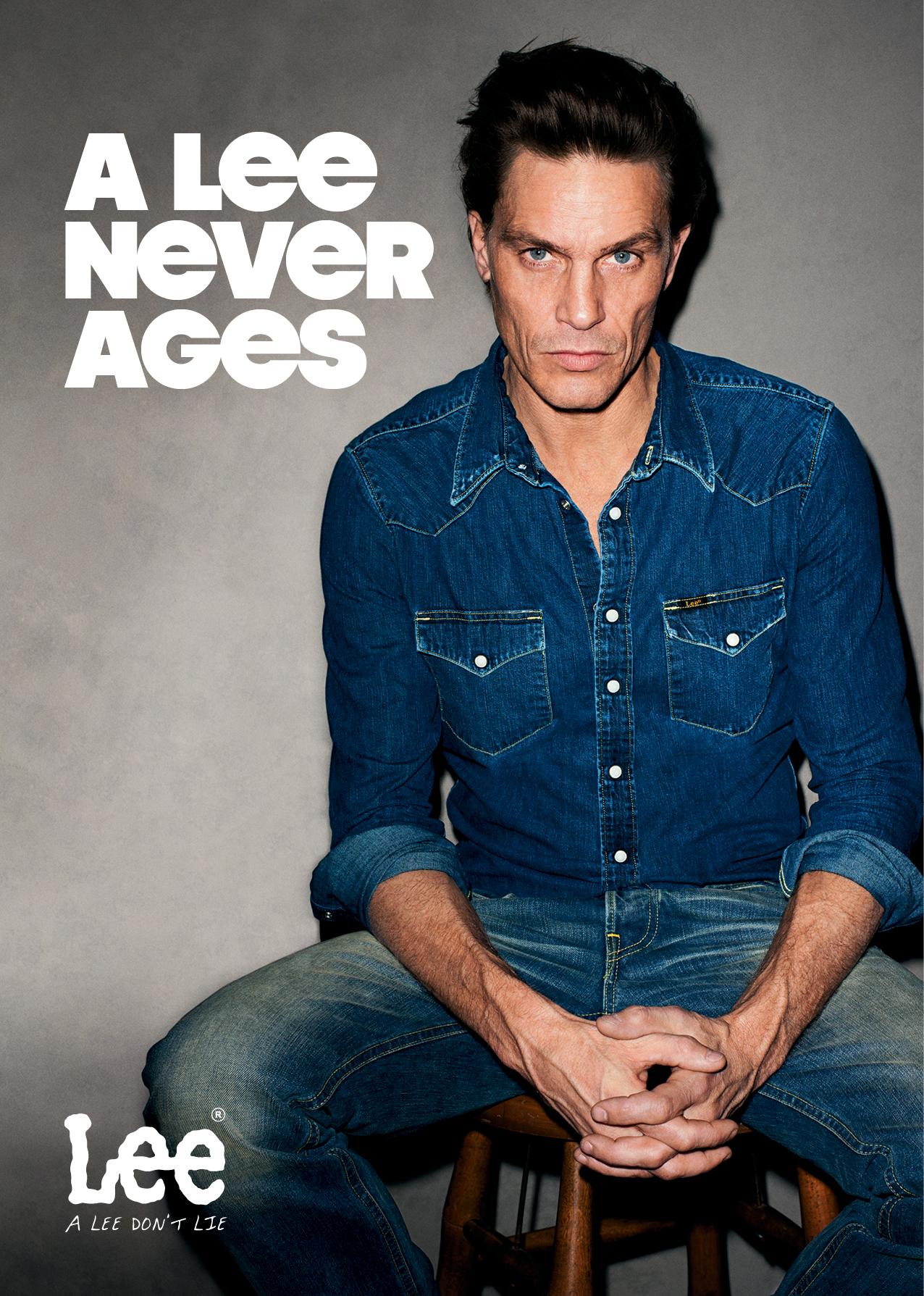A Lee Never agees lautet der Slogan der Lee Jeans Werbekampagne
