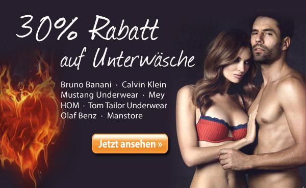 30% Rabatt auf Unterwäsche jetzt bei jeanswelt.de