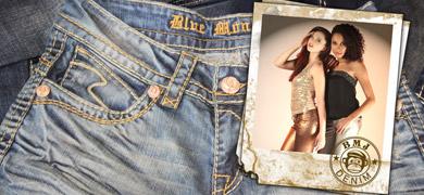 Trendige Blue Monkey Jeans mit dicken Nähte online kaufen.