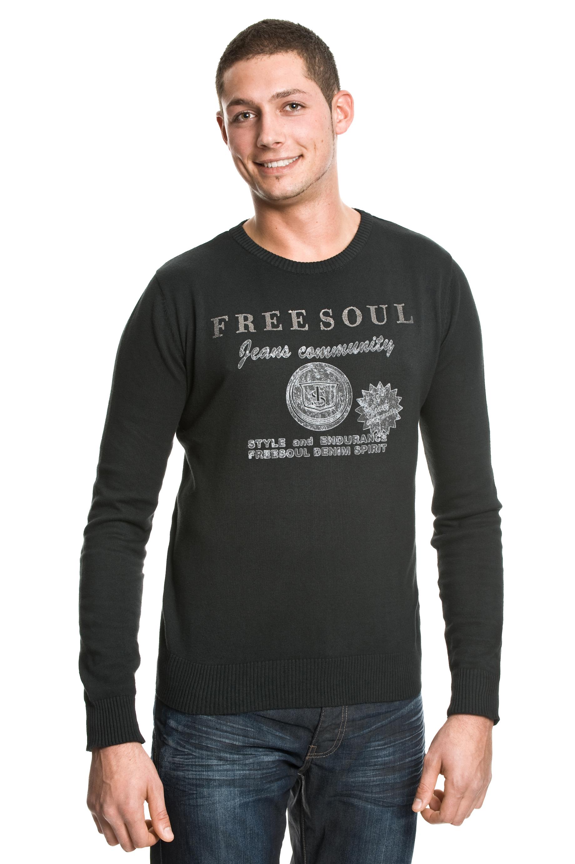 Freesoul Herren Pullover Rud Trend