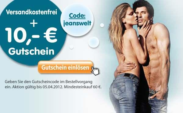 Jeanswelt Gutschein und versandkostenfreie Lieferung im Jeans Online Shop