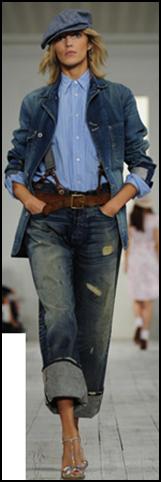 Boyfriend-Style Jeans zur Fashion Week NY