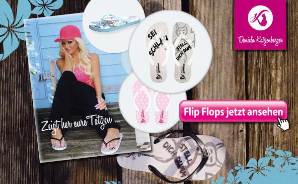 "Daniela Katzenberger Flip Flops aus der neuen Schuhkollektion  ""Romika by Katzenberger"" Catflip"