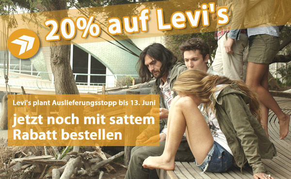 Levis Jeans 20% reduziert - jetzt bei jeanswelt.de