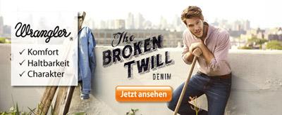 Wrangler Jeans mit dem einzigartigen Broken Twill