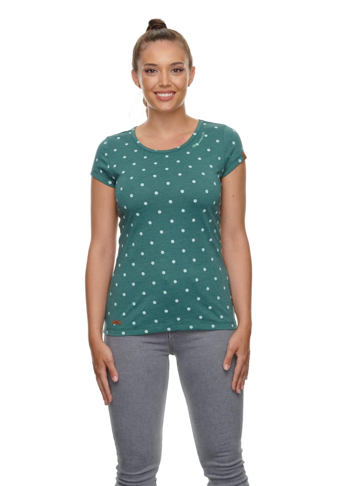 Ragwear Shirt Mint Dots dark green