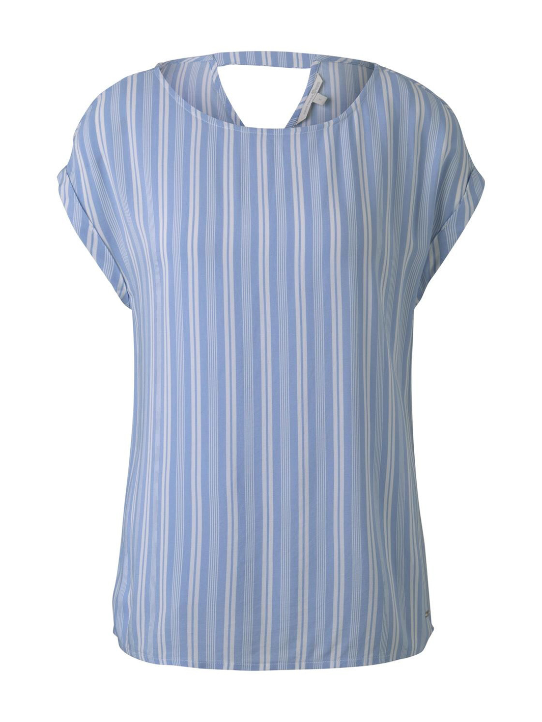 Tom Tailor gestreiftes Blusenshirt blau