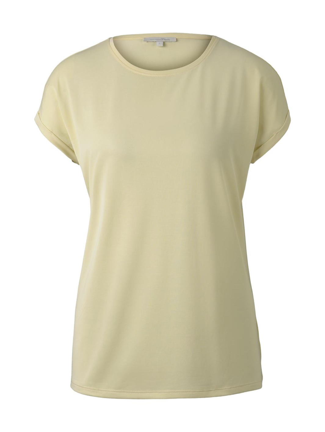 Tom Tailor lockeres Basic T-Shirt gelb