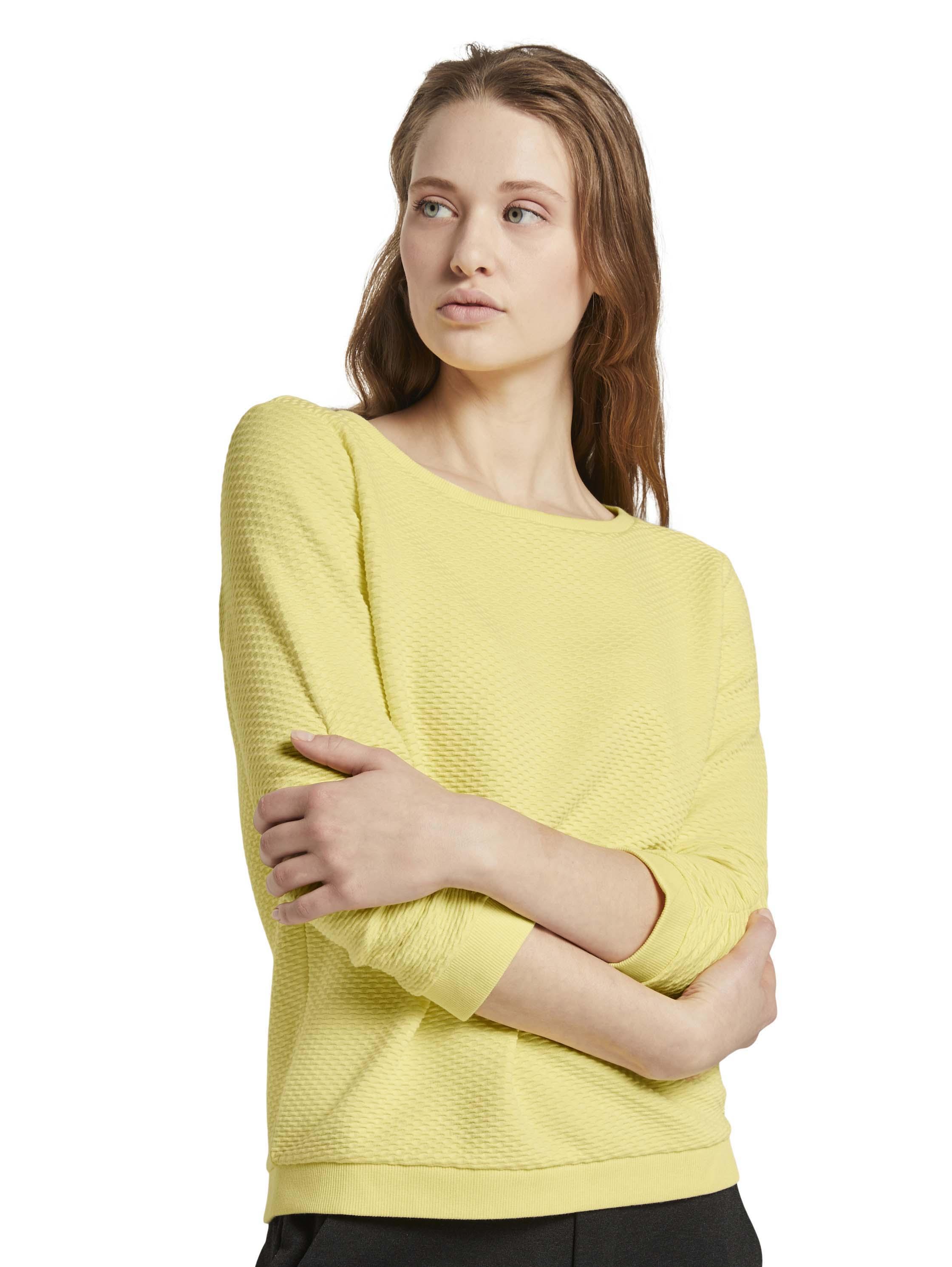 Tom Tailor Denim Pullover Structured Gelb