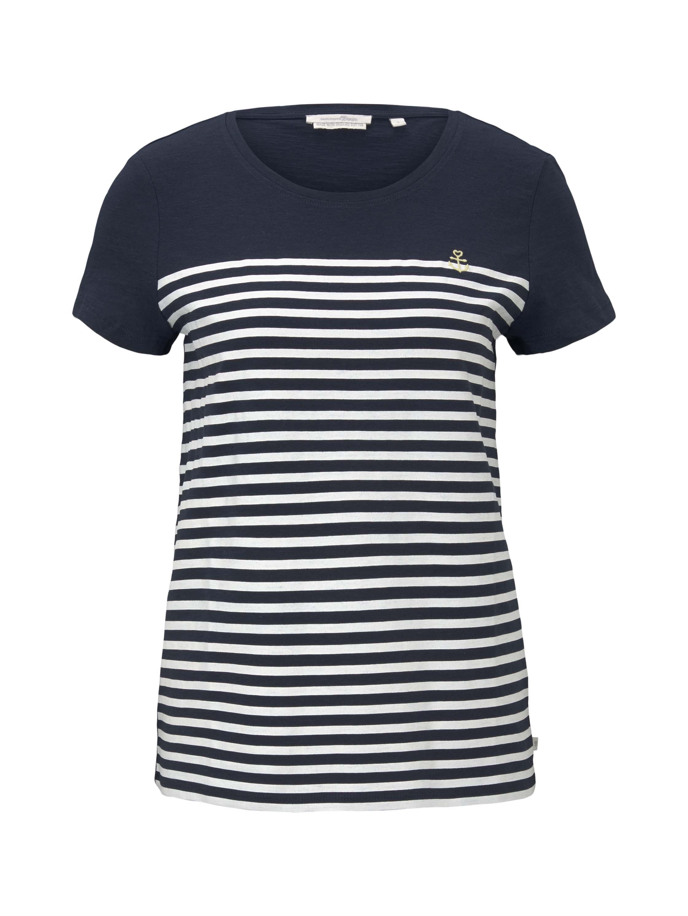Tom Tailor Denim Shirt Embro navy