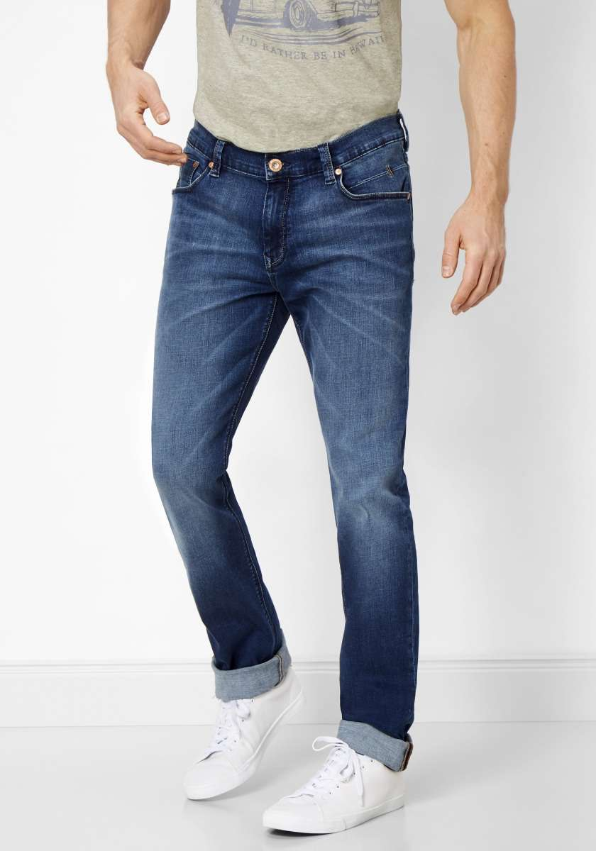 Paddock's Ben Tapered medium blue washed