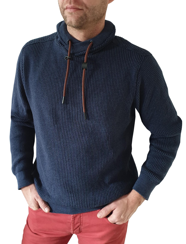 Kera Pullover Chester blau