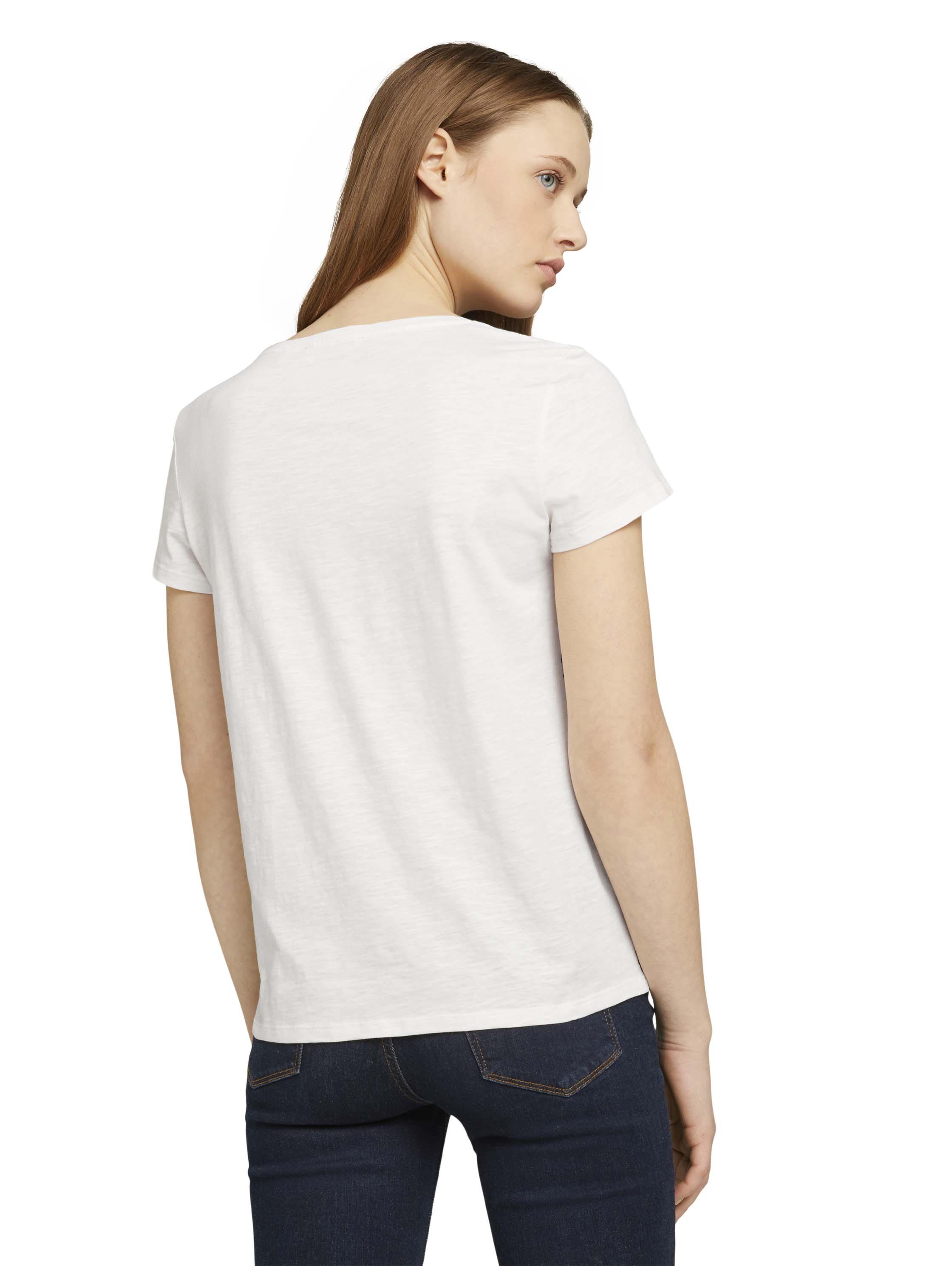 Tom Tailor Denim Shirt Embro weiß