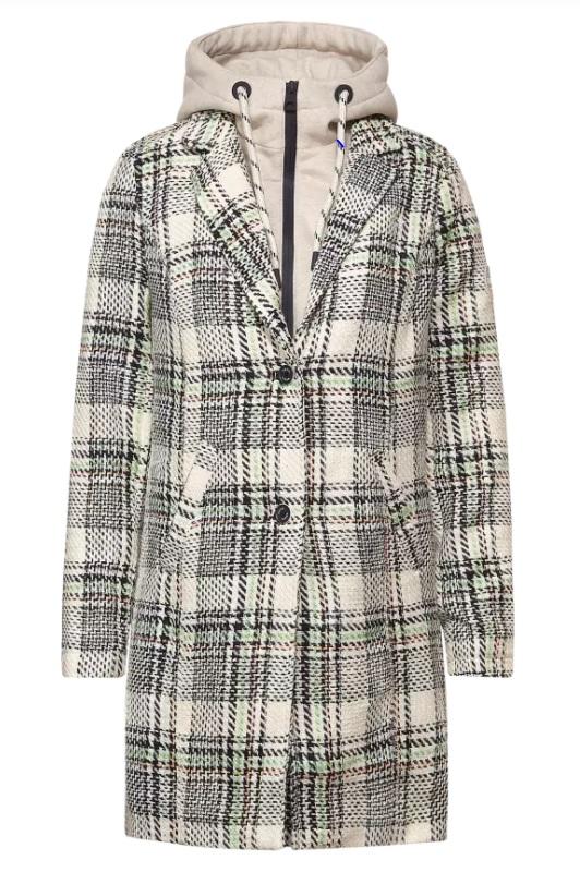 Cecil Mantel Check Coat