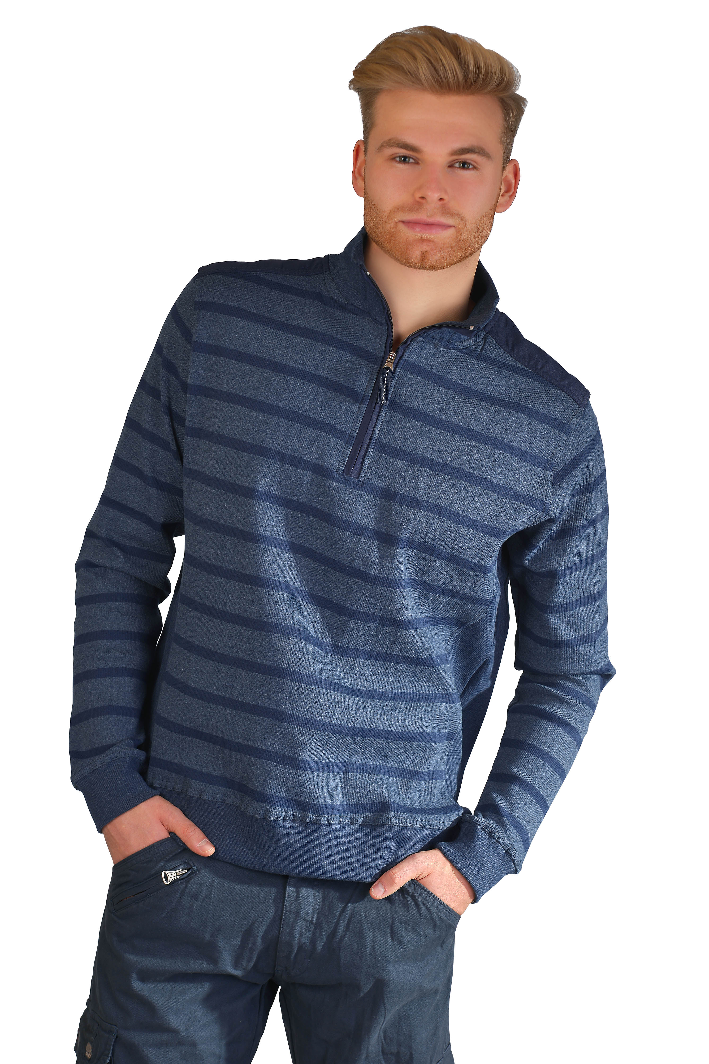 Kera Collection Pullover Striped Blue