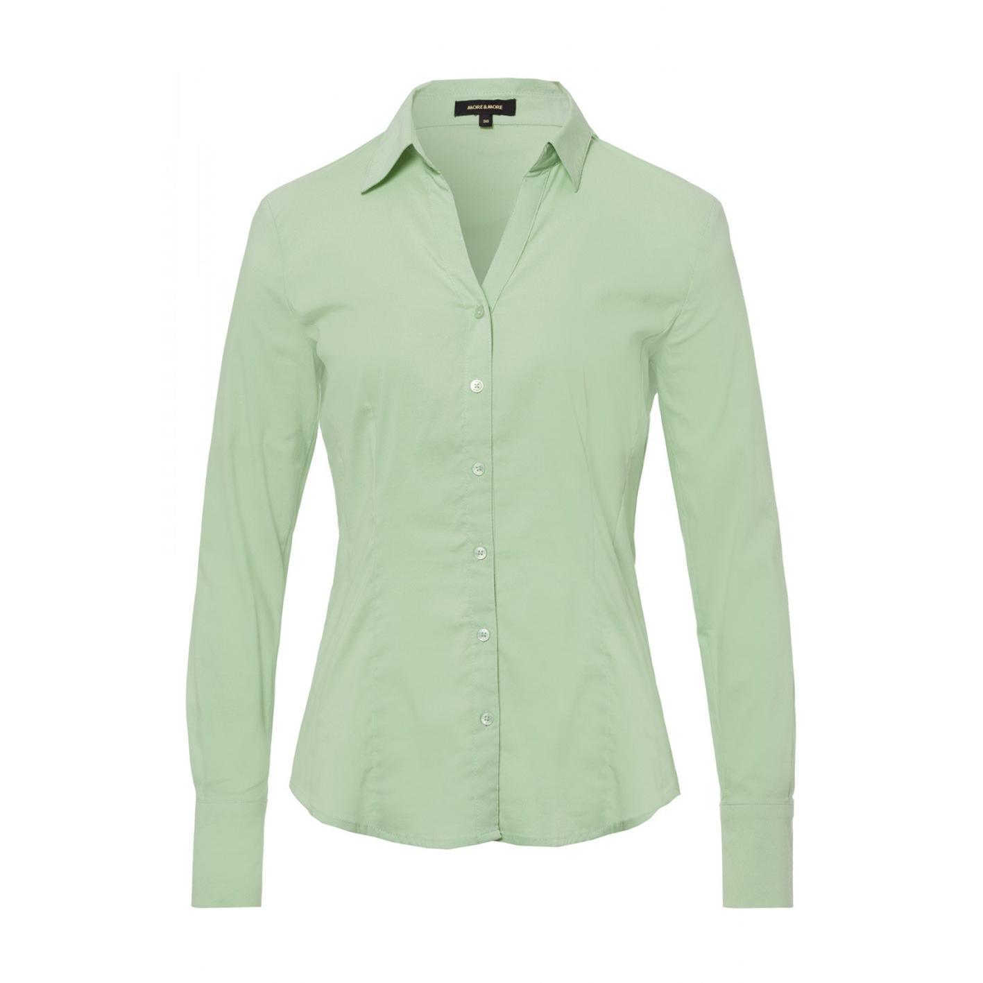 More & More langarm Bluse in grün