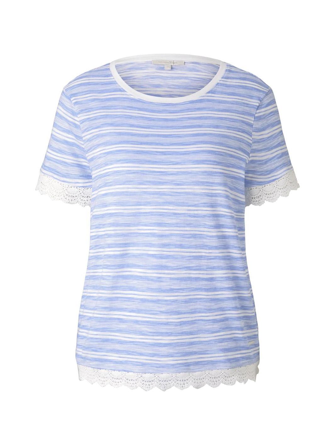 Tom Tailor Shirt mit Häkeldetails blau