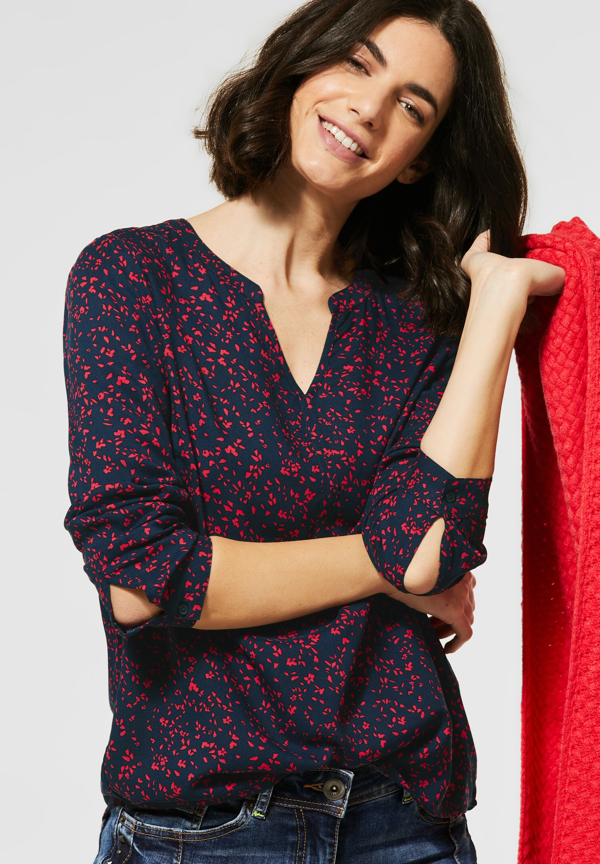Cecil Bluse Red Print