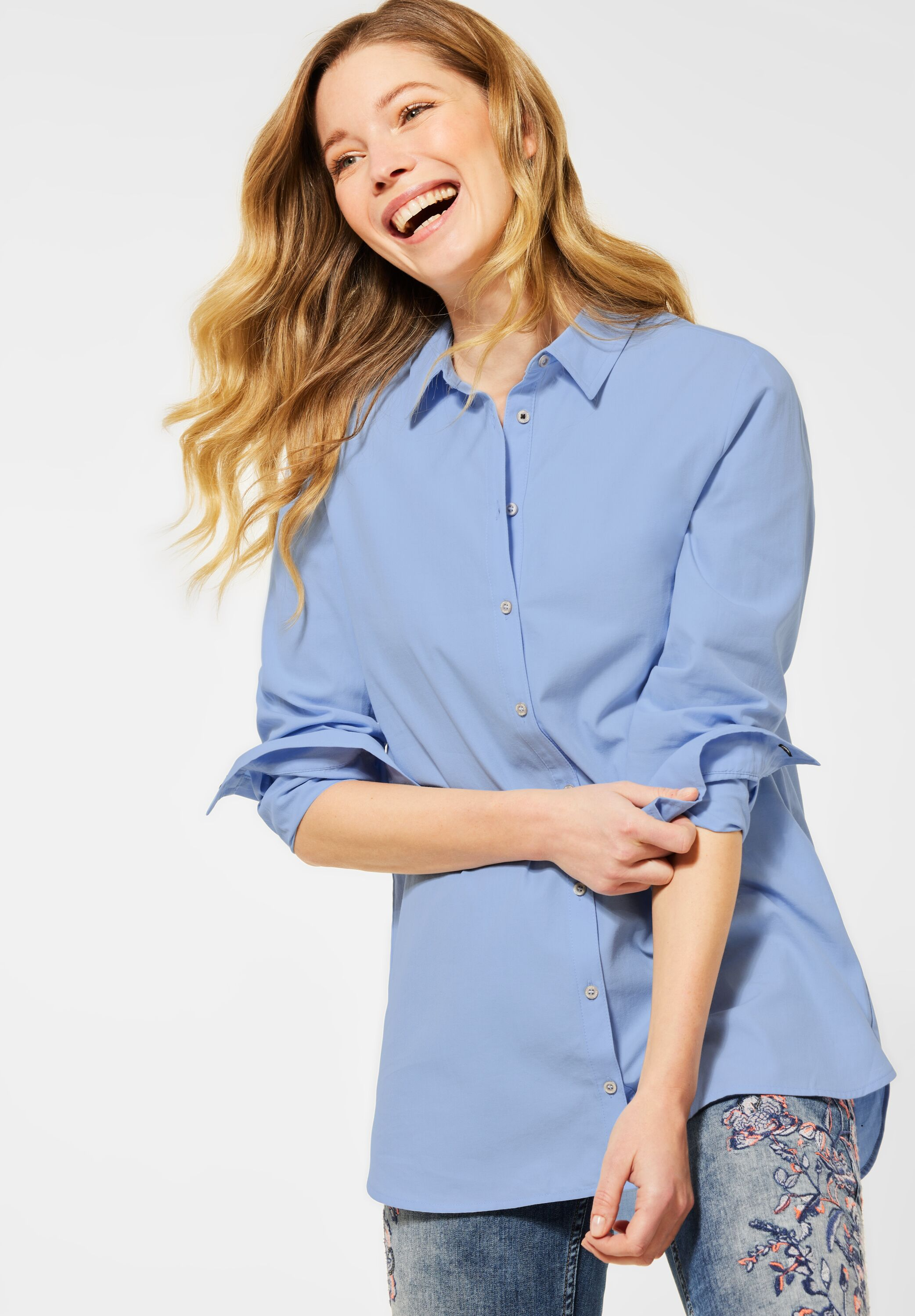 Cecil Bluse Solid Long