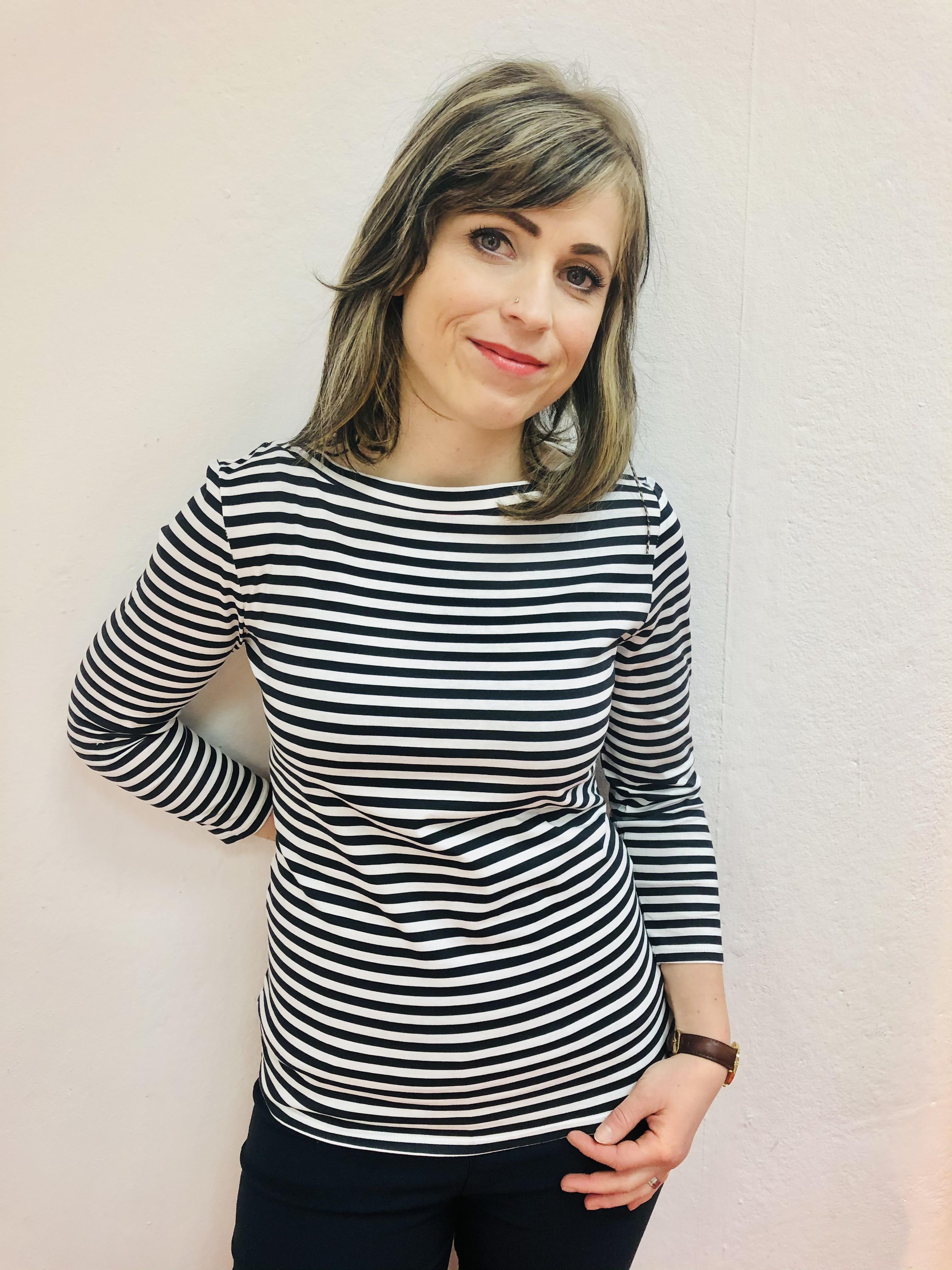 Street One Langarmshirt Printed Stripe