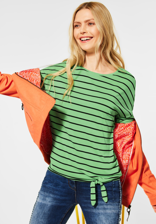 Cecil Shirt Striped Knot Shape green